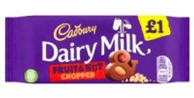 Cadbury Dairy Milk Fruit and Nut Chopped £1 Chocolate Bar 95g