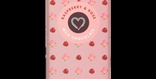 Raspberry & Rose Milk Chocolate Bar