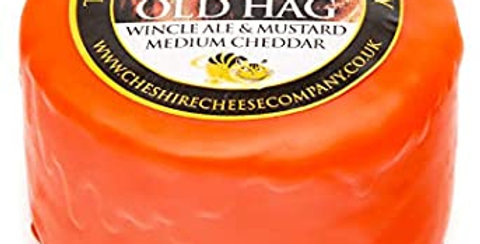Old Hag Wincle Ale & Mustard Cheddar 200g Wax Truckle