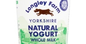 Longley Farm Yorkshire Natural Yogurt Whole Milk 450g