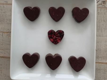 Dark Chocolate + Pomegranate = Yum!