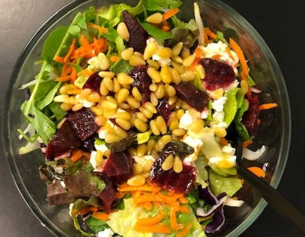 Salad Party with Pine Nuts
