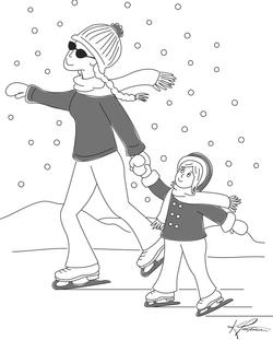 Mom Skate w/ Daughter