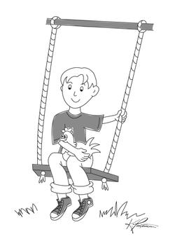 Child Swings w/ Chicken