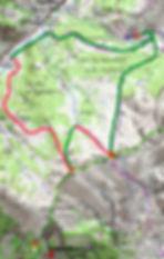 topo ski de rando et raquette : col de Mirandol et Plateau Bouchiers, tête de l'Homme, en Ubaye, départ Fouillouse