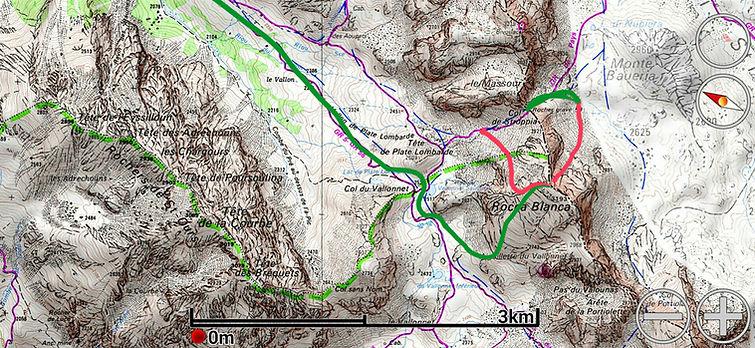 Incontournable sommet de haute Ubaye en ski de randonnée. Plusieurs possibilités pour la descente, suivant les conditions nivologiques