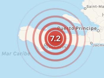Reportan varios heridos y daños tras sismo de 7.2 en Haití