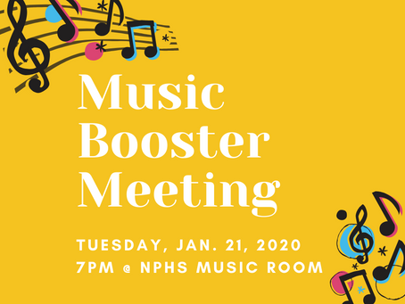 Music Booster Meeting