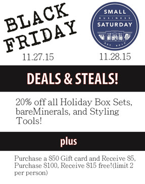Black Friday / Small Business Saturday