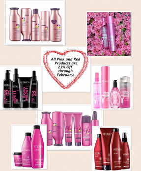 All Pink and Red Products are 25% Off