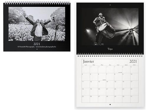 """calendrier """"scène-ographie"""", portraits de concerts"""