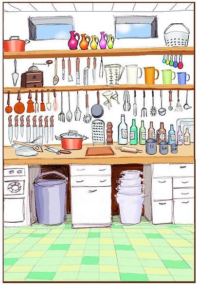 aufgeräumte Küche; Hausräumung; Wohnungsräumung