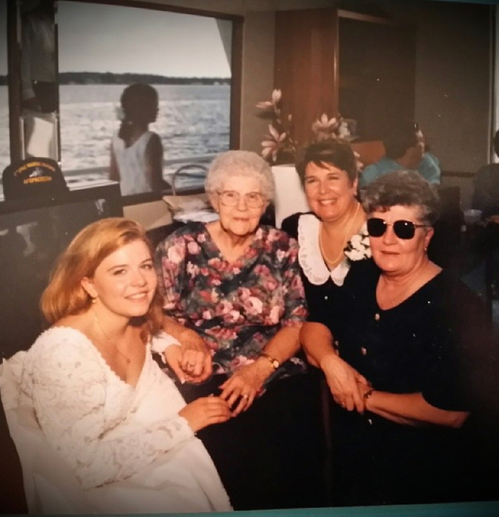 Left to right, Me, Great-Grandmother Dorothy Pavek, Mother Pamela Jean Boatwright, Grandmother Marlene LaForte