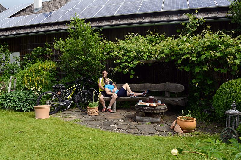 e-bike mit Sonnenstrom
