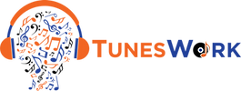 tuneswork-logo-head-icon-org-blu-blk-hor