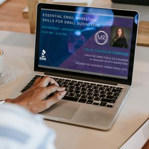 Sacramento Better Business Bureau Webinar: Essential Email Marketing Skills for Small Businesses