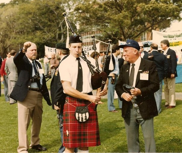 After the March,  Sydney.jpg Bob Carpenter, Wes Williams.jpg Gene Connell in background