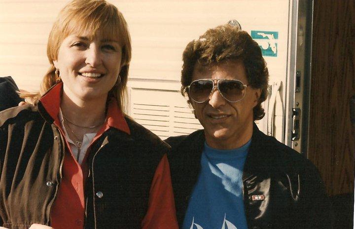 Jackie with Frankie Valli at Salute II, 1984