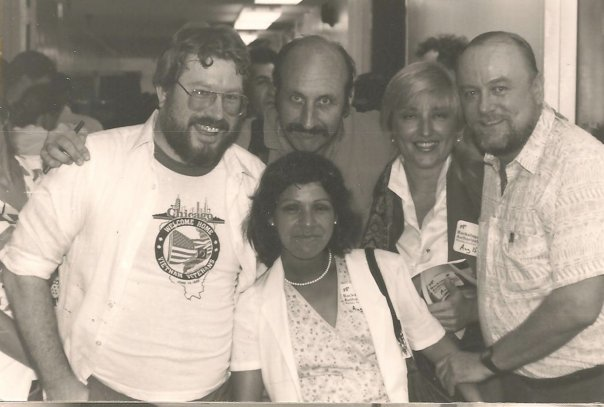 Noel Paul Stookey with Larry and his wife and Bob Carpenter and me after a Peter, Paul and Mary conc
