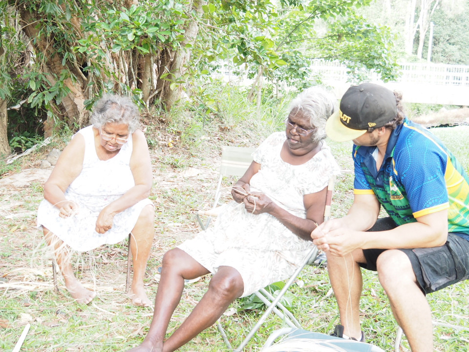 Elders sharing skills