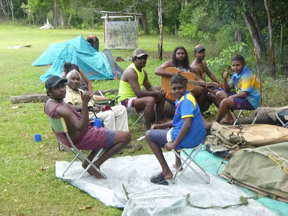 The Men's fire place Family camp.JPG