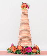 34 ring kransekake wedding cake