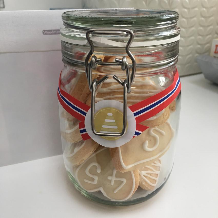 45th wedding anniversary cookies