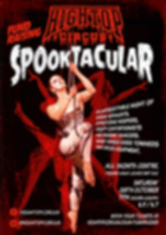 High Top Circus Fundraiser Spooktacular Poster