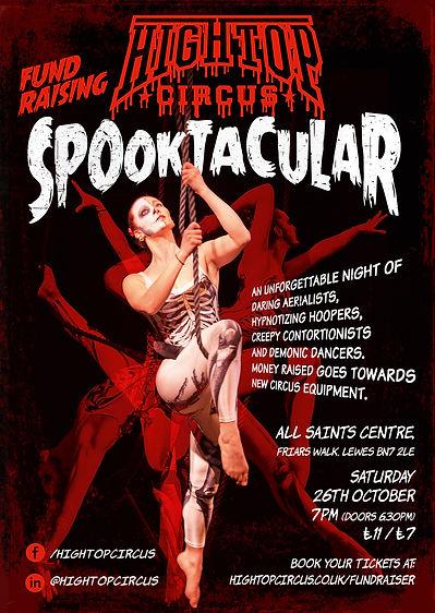 High Top Circus Fundraiser Spooktacular Poster