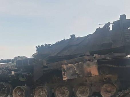 Des T-90 russes en bataille ouverte ont détruit jusqu'à 20 chars M60 turcs...
