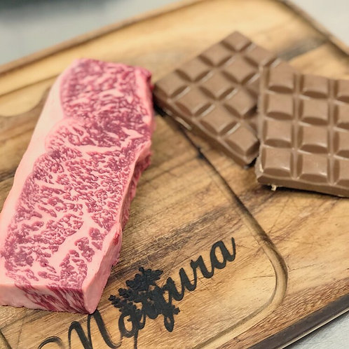 MAYURA STRIPLOIN-CHOCOLATE FED WAGYU by WAVES PACIFIC