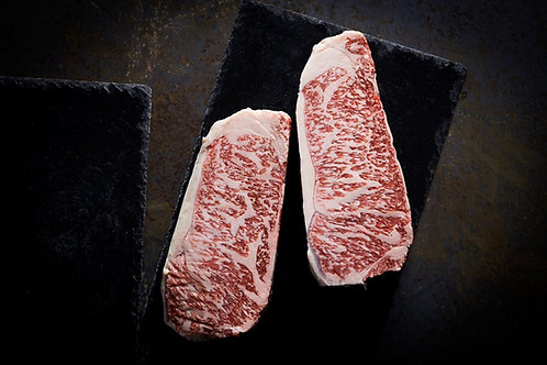 WAGYU STRIPLOIN STEAKS by WAVES PACIFIC