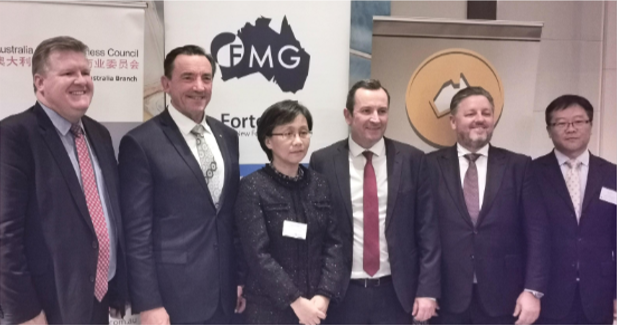 A warm welcome to WA Chinese Consul General Dong Zhihua