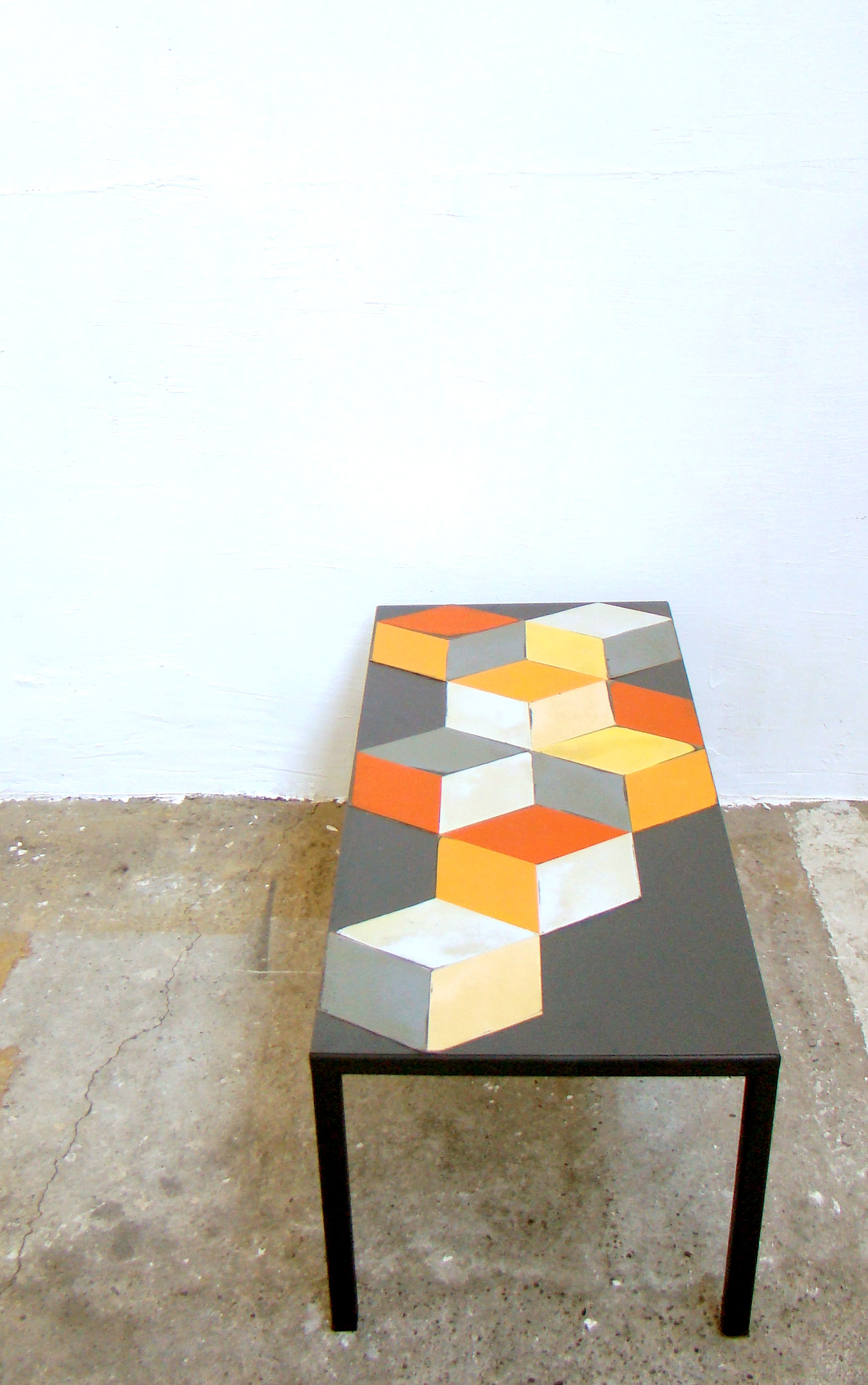 table hexagone detail