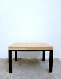 Table basse chene et acier entier