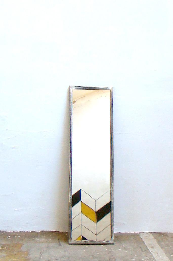 miroir motif tole entier