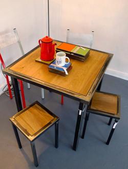 Table à manger chêne et acier