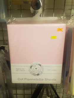Flat Cot Sheet - Pink