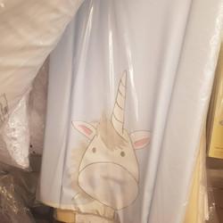 Changing mat - blue unicorn