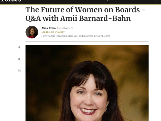 The Future of Women on Boards - Q&A with Amii Barnard-Bahn