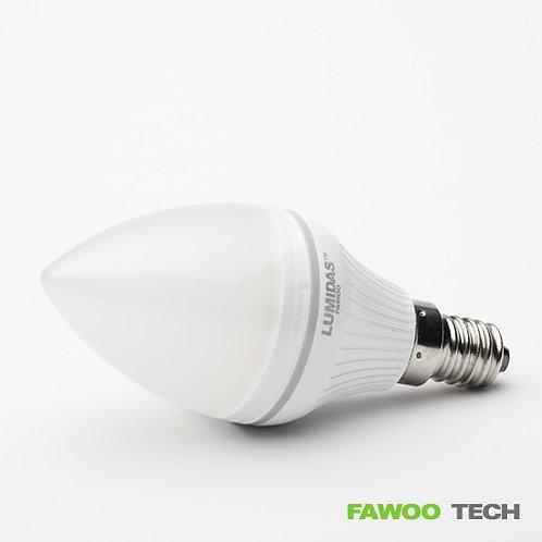 LED svíčková žárovka LumiDas-CL04, E14, teplá bílá