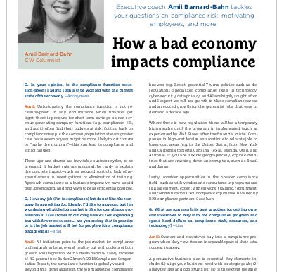 Compliance Week Ask Amii Mailbag: Jan/Feb 2019
