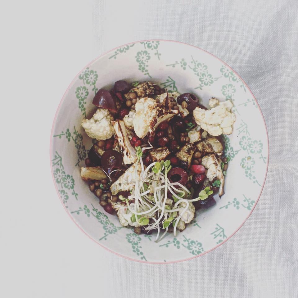 Recept van Anna: Geroosterde bloemkool herfstsalade