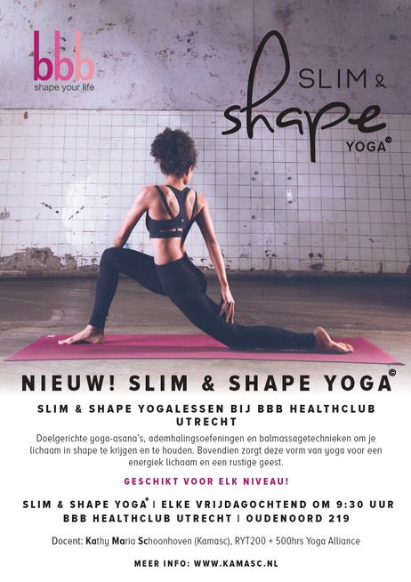 BBB Healthclub Utrecht gaat voor Slim & Shape Yoga!