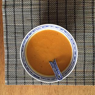 SWEET POTATO SOUP  with coconut/rice milk