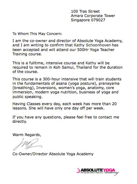 Acceptance Letter...