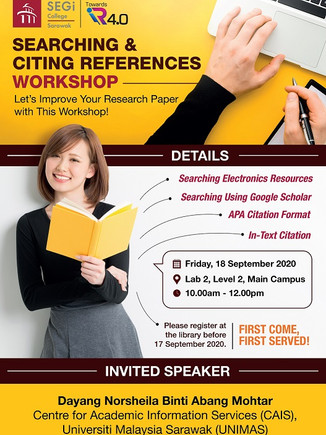 Searching and citing reference workshop