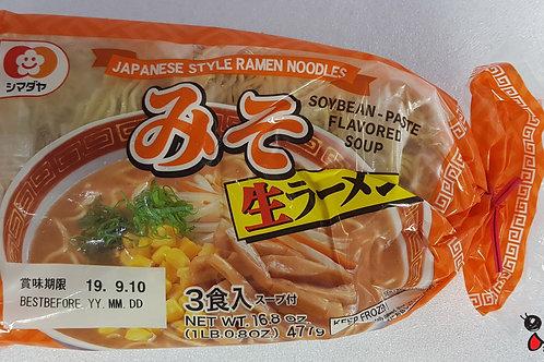シマダヤ3食ラーメン味噌 477g