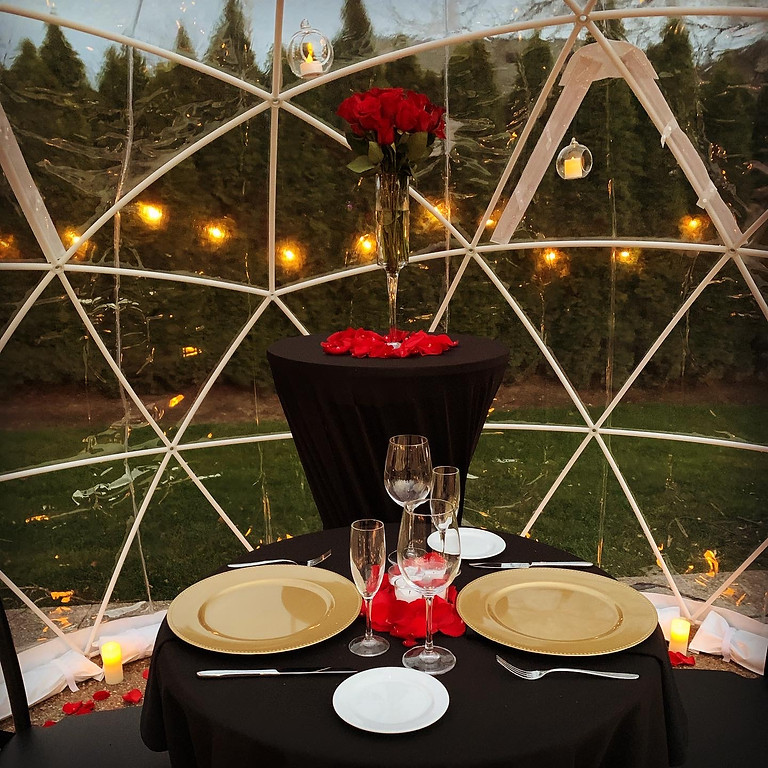 Valentine's Day In The Garden : Dinner for 2 Pricing