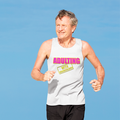 Adulting with GRANDCHILDREN Jersey Tank